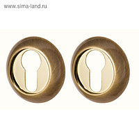 Накладка Armadillo CYLINDER ET-1AB/GP-7, цвет бронза/золото, 2 шт.
