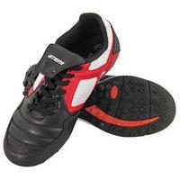 Футбольные бутсы, цвет чёрный/белый/красный, синтетическая кожа, размер 33