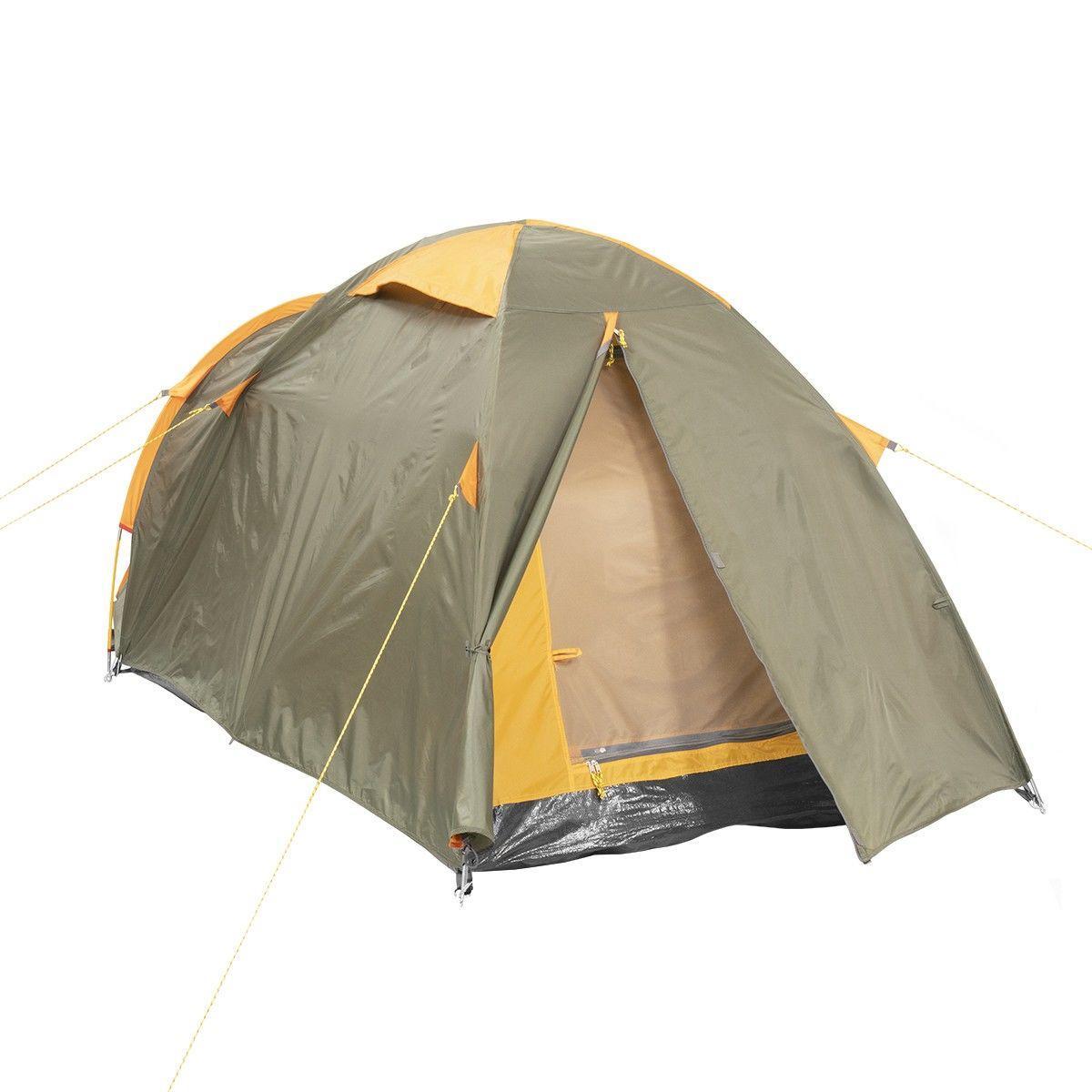 Палатка MUSSON-3 Helios зеленый-оранжевый HS-2366-3 GO - фото 5