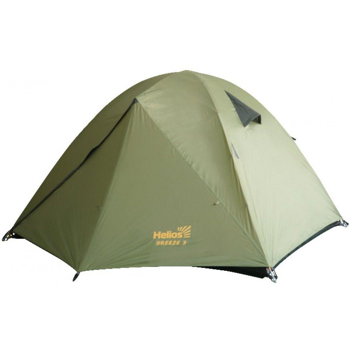 Палатка BREEZE-3 Helios зеленый HS-2370-3 - фото 1