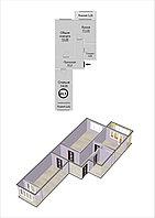 2 комнатная квартира в ЖК Техникум 2 66.5 м², фото 1