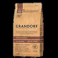 591128 GRANDORF Duck Adult, сухой корм для собак всех пород, утка с картофелем, уп.12 кг.