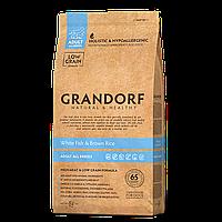 588128 GRANDORF White Fish Adult, сухой корм для собак всех пород, белая рыба с рисом, уп.12 кг.