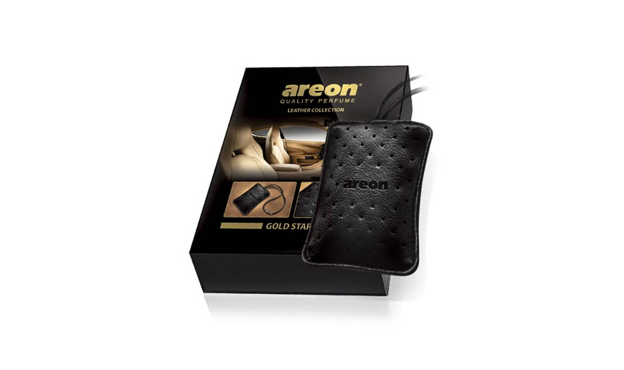 Ароматизатор салона Areon Leather Collection Gold Star ALC01