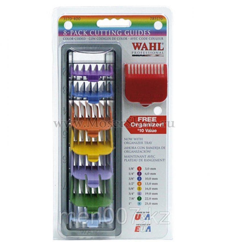 Набор цветных пластиковых насадок Wahl 3170-417/4503-7171 с подставкой, 8 шт.