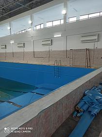 Реконструкция бассейна ПВХ лайнером Haogenplast Blue 8283, г.Актау 1