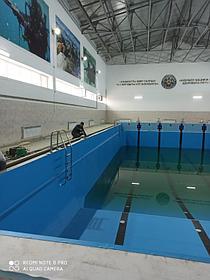 Реконструкция бассейна ПВХ лайнером Haogenplast Blue 8283, г.Актау 2