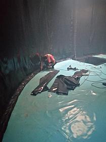 """Гидроизоляция резервуара ПВХ мембраной """"ДЕКОПРАН"""", г.Капчагай, завод Henkel 3"""