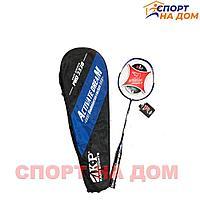 Карбоновая ракетка для бадминтона в чехле Kaipi Sports Pro 3338