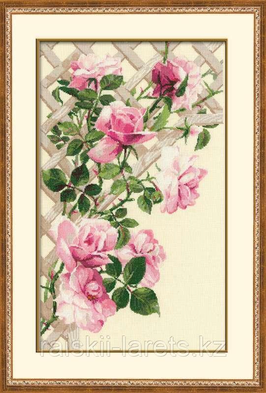"""Набор для вышивания крестом """"Розовые розы""""  898"""