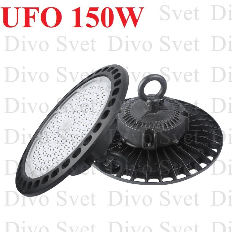 Светильник складской светодиодный UFO 150W. Промышленный подвесной LED UFO 150 Ватт. Купольный светильник УФО.