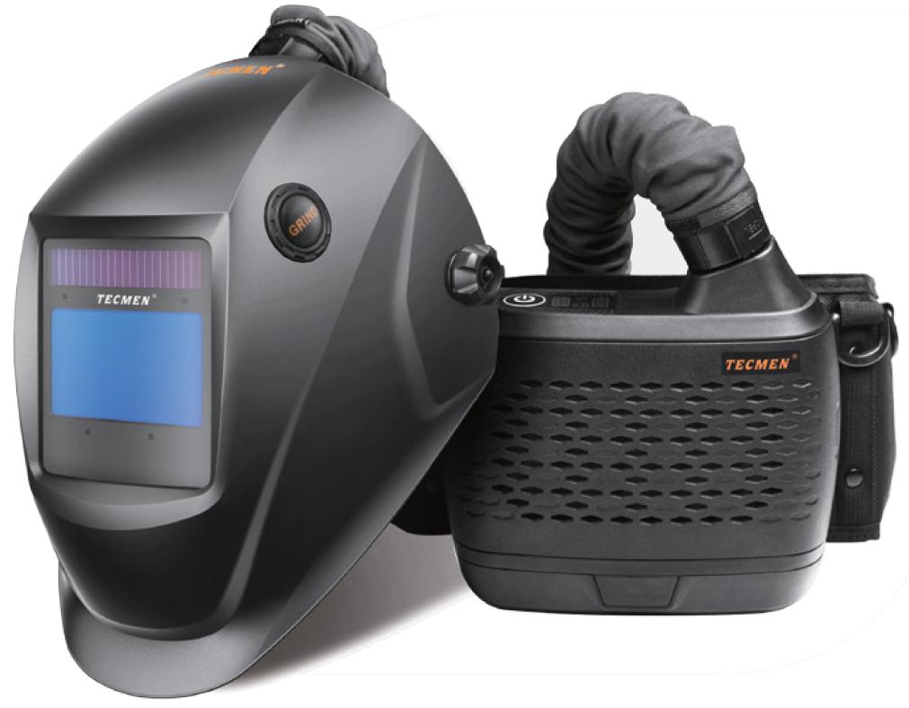 Сварочная маска с автоматическим светофильтром Tecmen ADF 815S TM16 черная с  PAPR (внешн. кнопка зачистки)