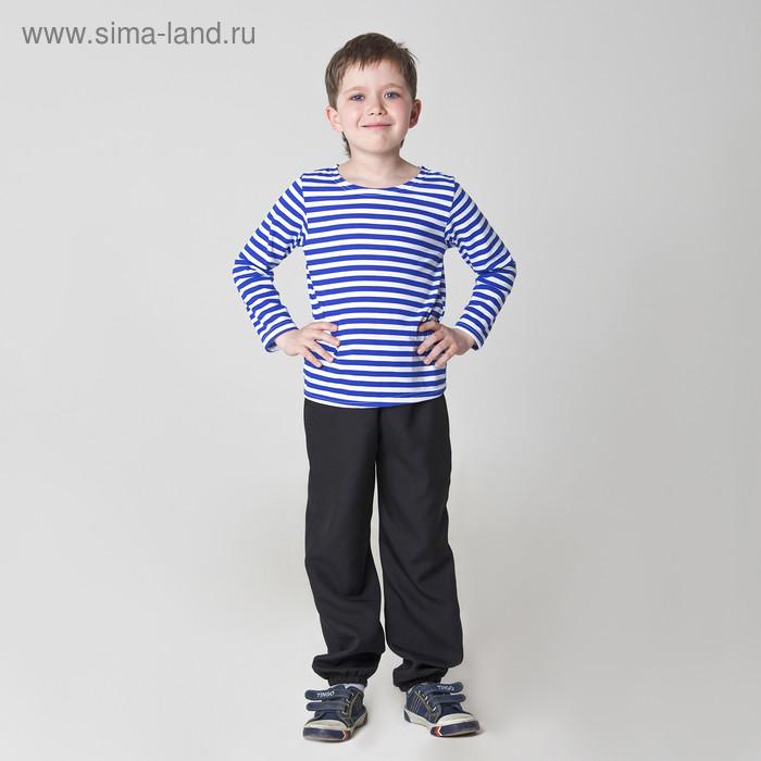Карнавальная тельняшка-фуфайка военного, детская, р. 32, рост 122 см - фото 1