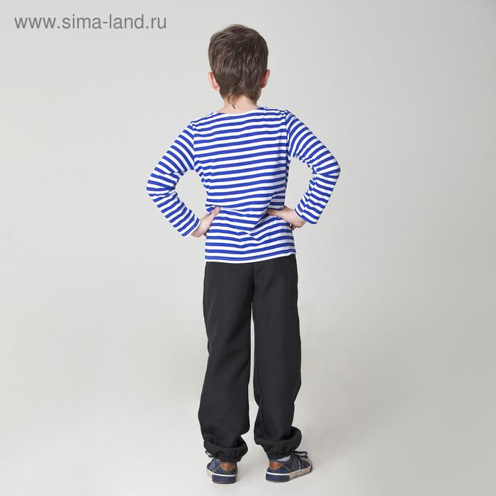 Карнавальная тельняшка-фуфайка военного, детская, р. 32, рост 122 см - фото 2