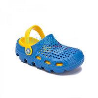 Детские сабо Coqui Bugy синие с желтым