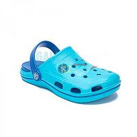 Детские сабо сине-голубые COQUI BODEE 32-33 (20,5см)