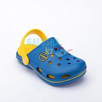 Детские сабо сине-желтые COQUI BODEE