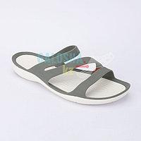 Женские серые шлепанцы CROCS Women's Swiftwater Sandal
