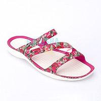 Женские цветочные шлепанцы CROCS Women's Swiftwater Sandal