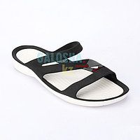 Женские черные шлепанцы CROCS Women's Swiftwater Sandal