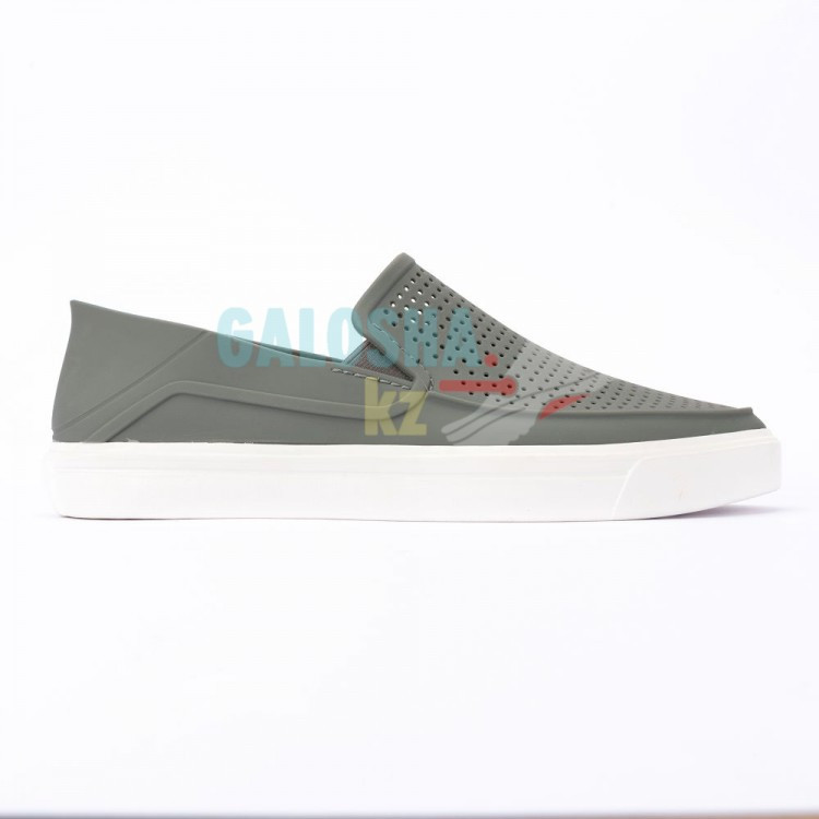 Серая мужская обувь CROCS Men s CitiLane Roka Slip-On 40 (M8) - фото 2
