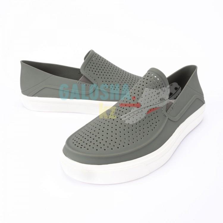 Серая мужская обувь CROCS Men s CitiLane Roka Slip-On 40 (M8) - фото 5