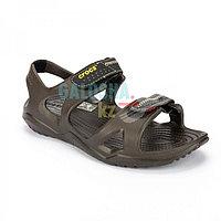 Мужские коричневые сандалии Crocs Men's Swiftwater River Sandal 40 (М7)