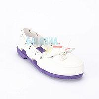 Женская обувь белая фиолетовая CROCS Women's Beach Line Boat Shoe