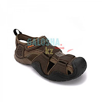 Мужские сандалии коричневого цвета CROCS Men s Swiftwater Leather Fisherman 45