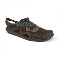 Мужские сандалии темно-коричневые Crocs Men's Swiftwater Mesh Wave Sandal 41 (М8)