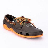 Мужские коричневый оранжевый топсайдеры CROCS Men's Classic Boat Shoe
