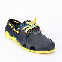 Мужские темно-синие лимоный топсайдеры CROCS Men's Classic Boat Shoe