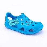 Голубые сандалии Crocs Kids Swift water Wave Sandal