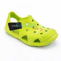 Зеленые сандалии Crocs Kids Swift water Wave Sandal