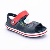 Детские темно-синие сандалии CROCS Crocband Sandal Kids 27 (C10)
