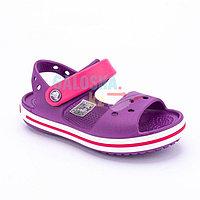 Детские фиолетовые сандалии CROCS Crocband Sandal Kids 24 (C7)