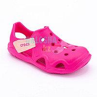 Розовые сандалии Crocs Kids Swift water Wave Sandal