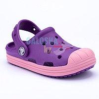 Детские фиолетовые сабо Crocs Kids' Bump It Clog