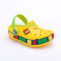Детские сабо желтого цвета Kids Lego Clog