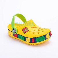 Детские сабо желтого цвета Kids Lego Clog 34-35 (J3)