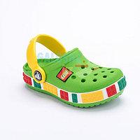 Детские сабо зеленого цвета Kids Lego Clog 33-34 (J2)