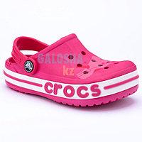 Детские розовые сабо CROCS Kids' Bayaband Clogs