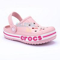 Детские светло-розовые сабо CROCS Kids' Bayaband Clogs