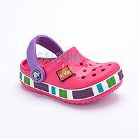 Детские сабо розового цвета Kids Lego Clog 34-35 (J3)