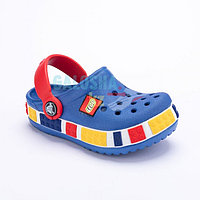 Детские сабо синего цвета Kids Lego Clog