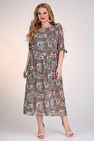Женское осеннее шифоновое большого размера платье Jurimex 2467 56р.