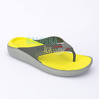 Серо желтые шлепанцы CROCS LiteRide Flip 39-40