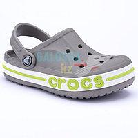 Детские серые сабо CROCS Kids' Bayaband Clogs 34-35
