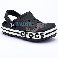 Детские черные сабо CROCS Kids' Bayaband Clogs 25