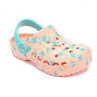 Детские персиковые сабо Crocs Kids' Baya Seasonal Graphic Clog